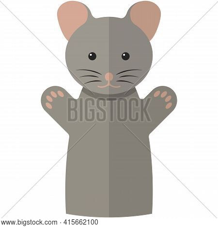 Vector Mouse Hand Puppet Doll For Theatre Show