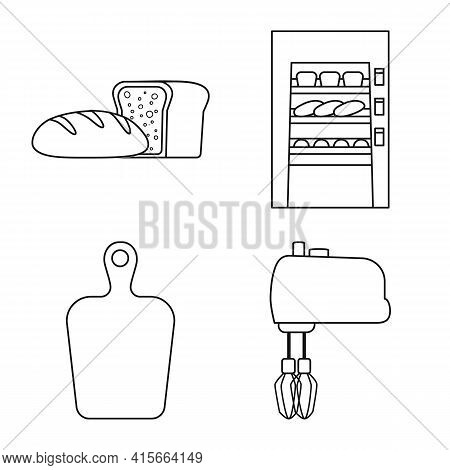 Vector Design Of Bakery And Natural Symbol. Collection Of Bakery And Utensils Stock Vector Illustrat