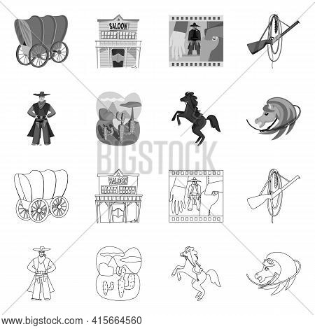 Vector Illustration Of Texas And History Symbol. Set Of Texas And Culture Stock Vector Illustration.