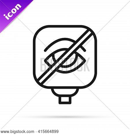 Black Line Blindness Icon Isolated On White Background. Blind Sign. Vector