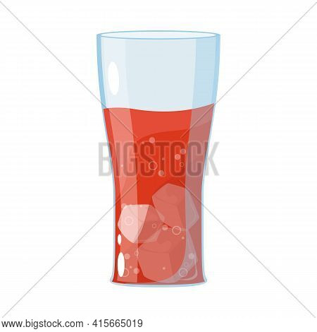 Isolated Object Of Soda And Glass Symbol. Collection Of Soda And Drink Vector Icon For Stock.