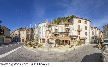La Javie, France - September 25, 2015: Small Village Of La Javie In France. La Javie Is A Commune In