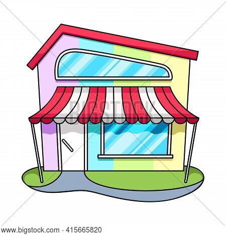 Isolated Object Of Bookstore And Shop Logo. Set Of Bookstore And Mini Vector Icon For Stock.