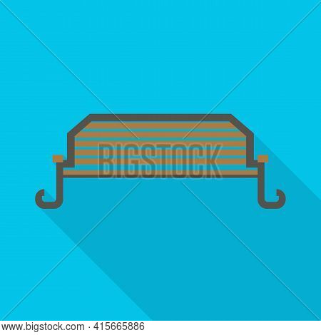 Vector Design Of Bench And Furniture Sign. Web Element Of Bench And Seat Vector Icon For Stock.