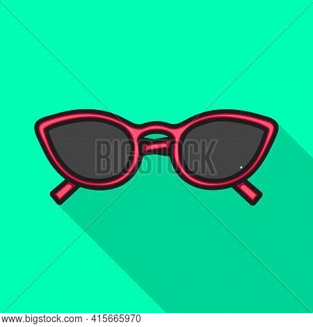 Vector Design Of Glasses And Sunglasses Symbol. Graphic Of Glasses And Spectacles Stock Symbol For W