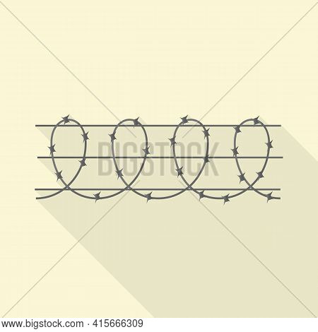 Vector Design Of Barbwire And Wire Logo. Web Element Of Barbwire And Fence Stock Vector Illustration