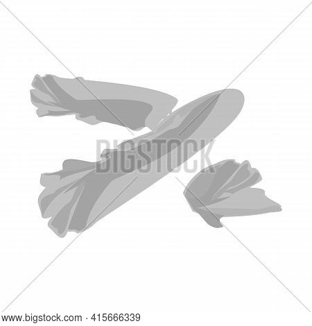 Vector Illustration Of Lettuce And Leaf Sign. Web Element Of Lettuce And Green Vector Icon For Stock