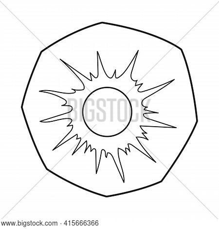 Vector Design Of Slice And Ananas Sign. Web Element Of Slice And Round Stock Vector Illustration.