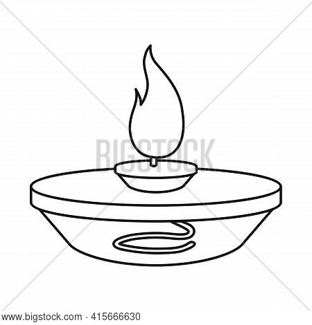 Isolated Object Of Burner And Lab Logo. Web Element Of Burner And Experiment Stock Symbol For Web.