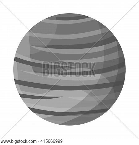 Isolated Object Of Surface And Star Symbol. Graphic Of Surface And Orbit Vector Icon For Stock.