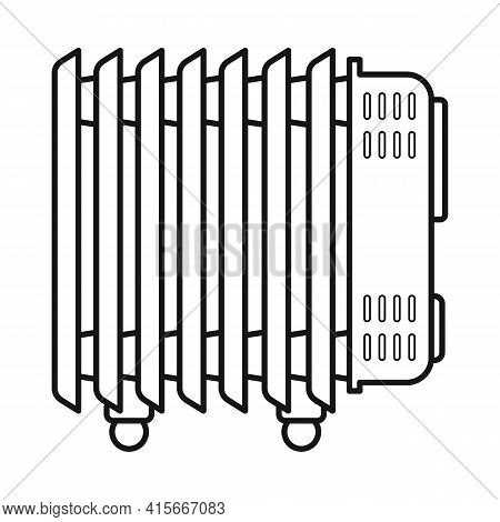 Vector Illustration Of Heater And Cooling Symbol. Graphic Of Heater And Radiator Vector Icon For Sto
