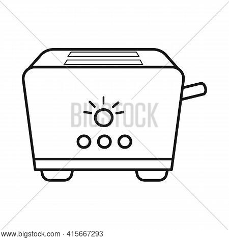 Vector Design Of Toaster And Menu Sign. Web Element Of Toaster And Instrument Vector Icon For Stock.