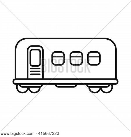 Vector Design Of Wagon And Metro Icon. Graphic Of Wagon And Steel Vector Icon For Stock.