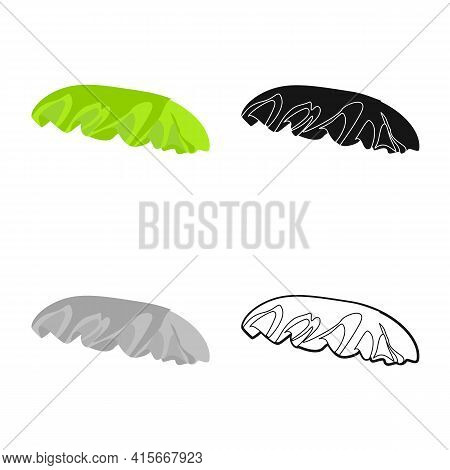 Isolated Object Of Bun And Bread Icon. Web Element Of Bun And Slice Vector Icon For Stock.