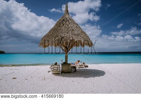 Curacao March 2021, Cas Abou Beach On The Caribbean Island Of Curacao, Playa Cas Abou In Curacao Car