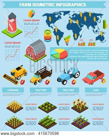 Modern International Farming Agricultural Production Facilities And Equipment Statistic Analysis Inf