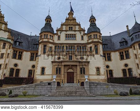 Heritage Of Architecture With The Nice Facade Of The Governor Palace In Metz