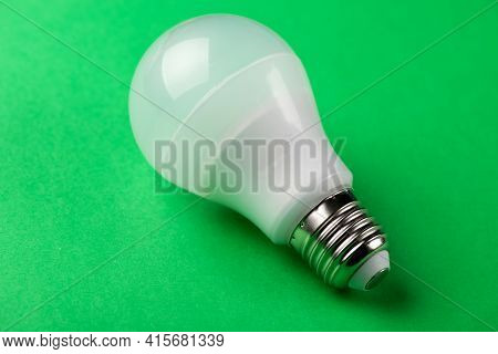 Led Lamp With Incandescent Bulbs On The Background. Photography Led Lamp