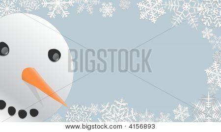 Peeking Snowman