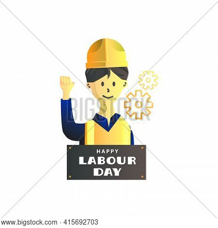 Illustration Construction Worker For Happy Labour Day