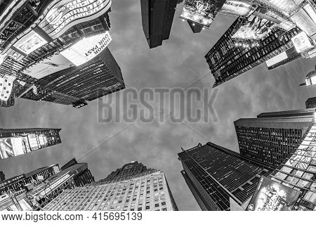 New York, Usa - Oct 21, 2015: Times Square, Featured With Broadway Theaters And Huge Number Of Led S
