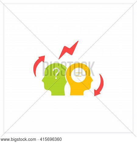 Conflict Resolution Flat Icon.conflict Between Two Persons.peaceful Solution To Disagreement.resolve