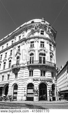 Vienna, Austria - Apr 24, 2015: Famous Coffeehaus Cafe Griensteidl In Vienna, Austria. The Grienstei