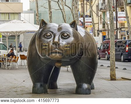 Barcelona, Spain - March 1, 2015: The Sculpture