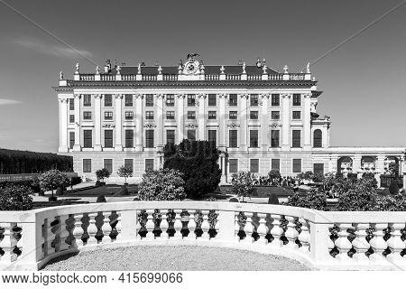 Vienna, Austria - April 24, 2015: Garden View In Vienna, Austria.  The Former Imperial Summer Reside