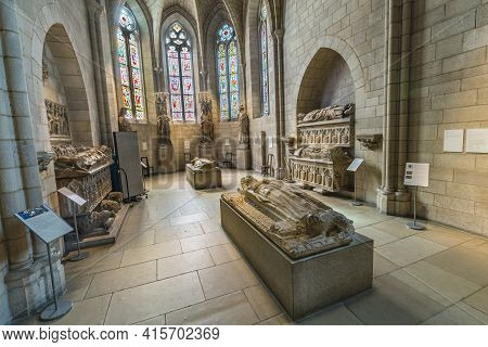 New York, Usa - October 22, 2015:   The Sanctuary At The Cloisters Museum In New York, Usa. The Cloi