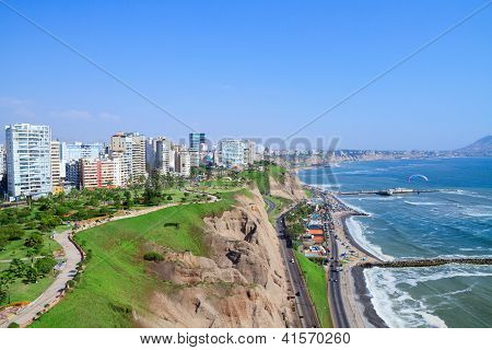 View of Miraflores Park, Lima - Peru