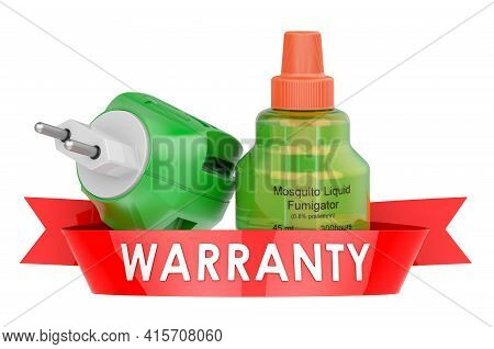 Fumigator Warranty Concept. 3d Rendering Isolated On White Background