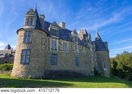 Chateaubriant, France - August 23, 2019: The Medieval Chateau De Chateaubriant Castle In The Loire-a