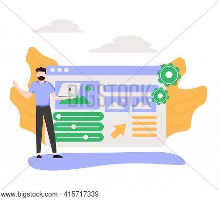 Back End Development Abstract Concept Vector Illustration. Software Development Process, Computer Ap