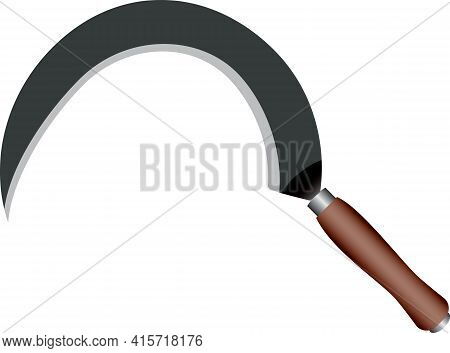 The Sickle Is A Tool Used In Agriculture For Manually Cutting Plants.