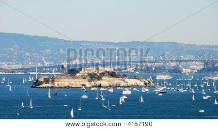 Alcatraz Island And Prison In San Francisco Bay