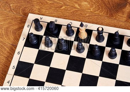 Conceptual Image Of A Traitor And Spy In Government Based On Chess Pieces. Symbol And Concept Of A S