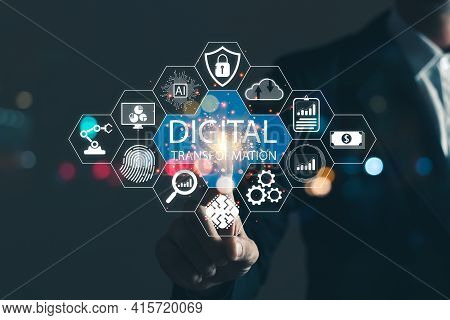 Digital Transformation Technology Strategy,the Transformation Of Ideas And The Adoption Of Technolog