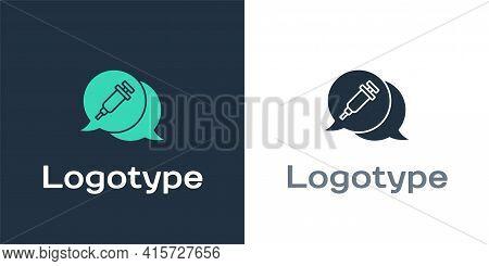 Logotype Addiction To The Drug Icon Isolated On White Background. Heroin, Narcotic, Addiction, Illeg