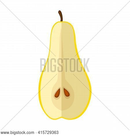 Pear Vector Icon.cartoon Vector Icon Isolated On White Background Pear.