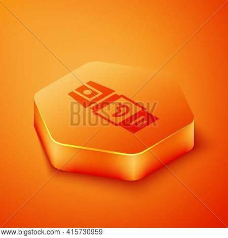 Isometric Pepper Spray Icon Isolated On Orange Background. Oc Gas. Capsicum Self Defense Aerosol. Or