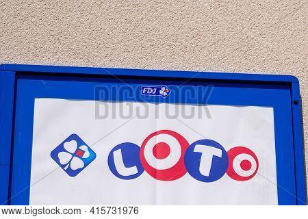 Bordeaux , Aquitaine France - 03 29 2021 : Loto And Fdj La Française Des Jeux French Lottery Operato