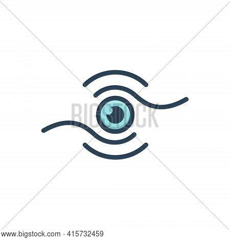Color Illustration Icon For Vision Eyesight Drishti Estimation Look Peep