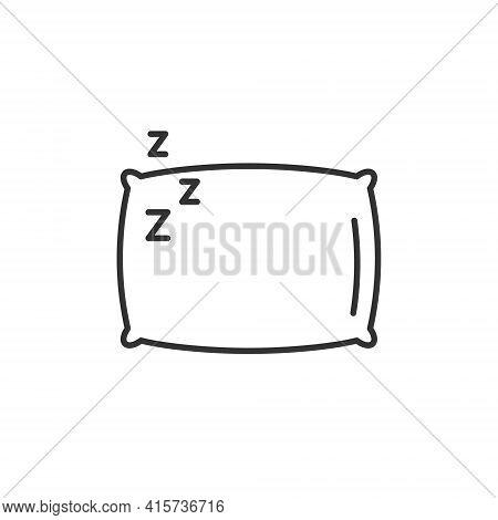 Sleep Pillow Vector Icon. Bed Cushion Pillow Relax Logo