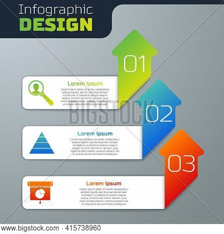 Set Magnifying Glass For Search A People, Pyramid Chart Infographics And Graph, Chart, Diagram, Info