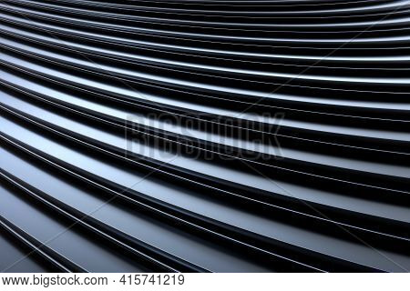 3d Rendering Of An Abstract 3d Composition With Some Black Curves