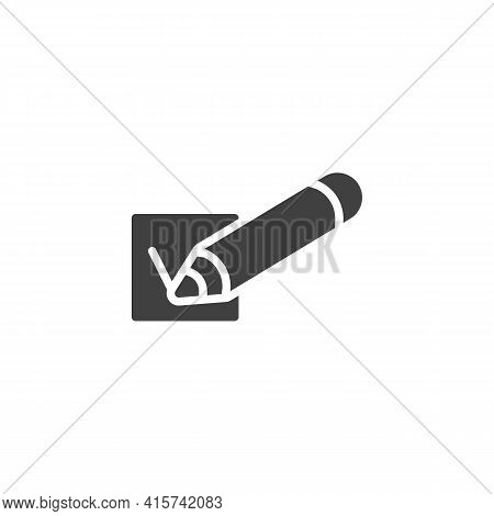 Survey Checkbox Vector Icon. Filled Flat Sign For Mobile Concept And Web Design. Vote, Check Mark Gl