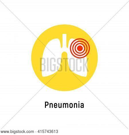 Pneumonia Respiratory Inflamed Icon Vector Asthma Pulmonology Logo