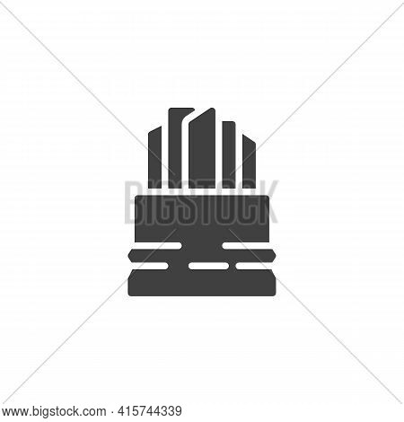 French Fries Sticks Vector Icon. Filled Flat Sign For Mobile Concept And Web Design. French Fries Ba