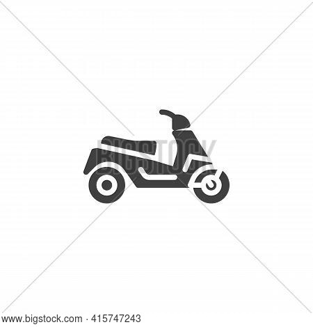 Electric Scooter Vector Icon. Filled Flat Sign For Mobile Concept And Web Design. E-scooter Glyph Ic